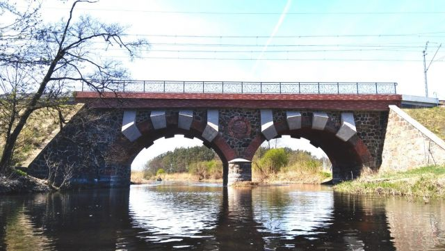 Most kolejowy na rzece Drwęcy (gm. Lubawa - gm. Iława)
